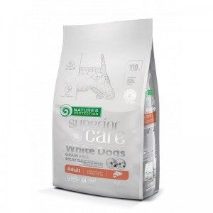 Natures Protection Superior Care White Dogs Grain Free Salmon Adult Small&Mini Breeds 10 Kg