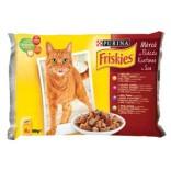 Friskies Cat Adult Multipack cu vita, ficat si fasole verde 4x100g