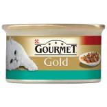 Gourmet Gold Cubulete de carne in sos cu pui si somon 85g