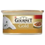 Gourmet Gold Cubulete de carne in sos cu curcan 85g