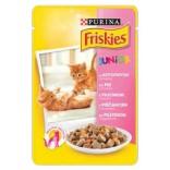 Friskies Cat Junior cu pui si morcovi 100g