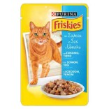 Friskies Cat Adult cu somon, ton si morcovi 100g
