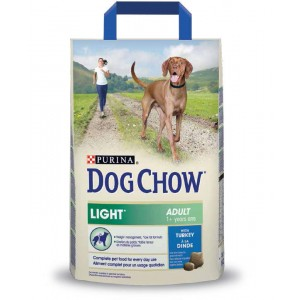Dog Chow Light cu curcan 2,5kg
